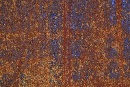 Oxidizing steel plate Stockfoto