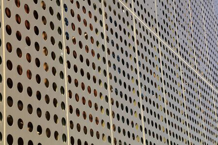 Yellow metal wall Banco de Imagens