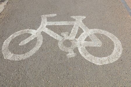 Bike styling marks on the ground
