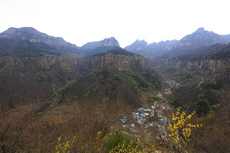 Wanxian mountains scenery, China 版權商用圖片
