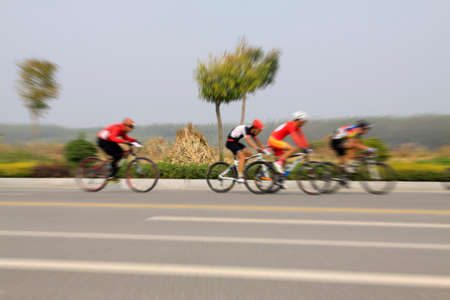 cycling race site on the road, China