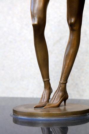 Women wear high heel feet, sculpture works of Art