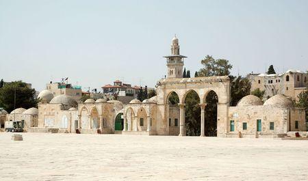 Temple mountain,gate.Israel.Jeruslem Stock Photo