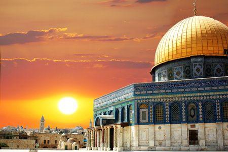 Dome of the rock in Jerusalem in Israel