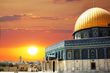 arhitecture: Dome of the rock in Jerusalem in Israel