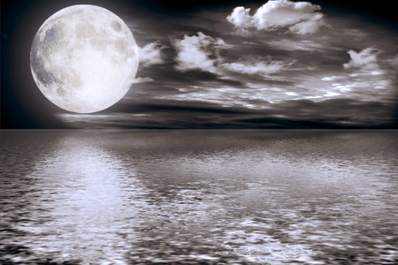 Full moon image with water Stock Photo - 8771522