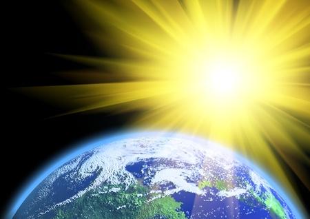 Earth and sun photo