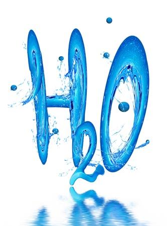 imagen de la fórmula de agua Foto de archivo - 8874478