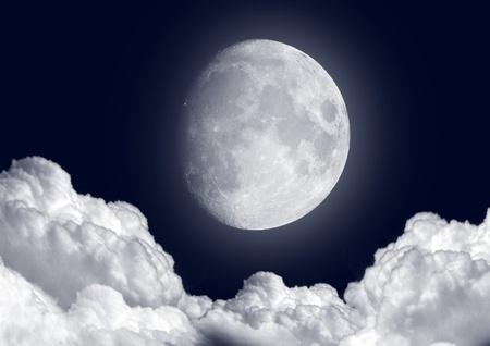 noche y luna: Luna en la noche