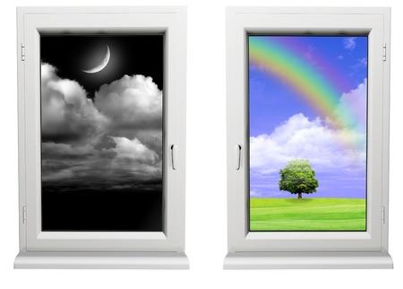 Day and night photo