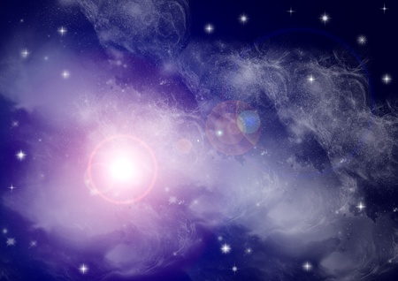 Stars in the night photo