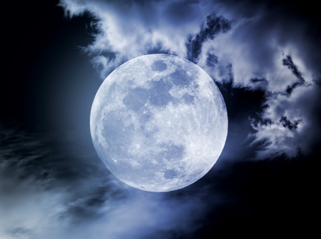 Moon in the night Stock Photo - 9186619