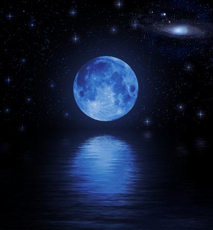 ciclo agua: Luna llena en agua