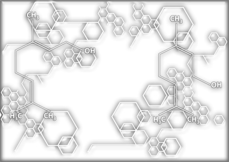 structural formula: The chemical structural formula of spirit Stock Photo