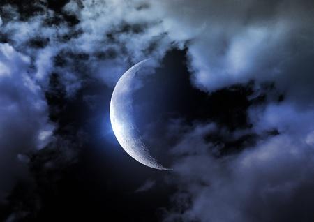 Half of moon photo