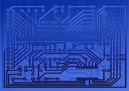Electric board in indigo Stock Photo - 9458775