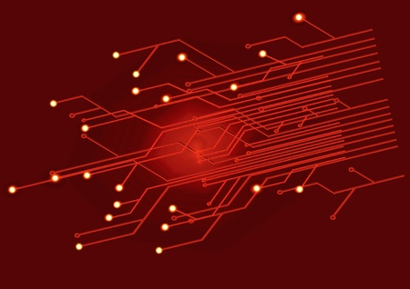 Assembly diagram illustration on an red background Stock Illustration - 9762178