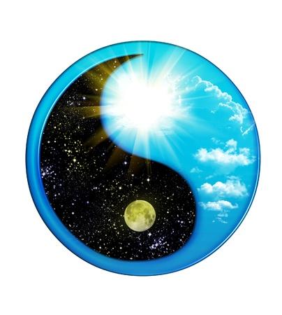 feng shui: Dual Concepts Of Yin And Yang Stock Photo