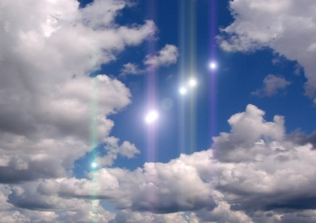 Some UFO in the sky photo