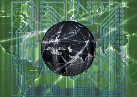 glob: Digital illustration of a earth