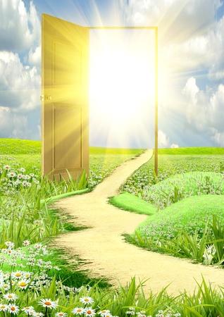 puerta abierta: puerta abierta