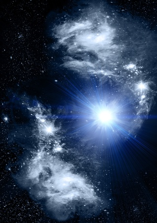 Stars of a planet and galaxy photo