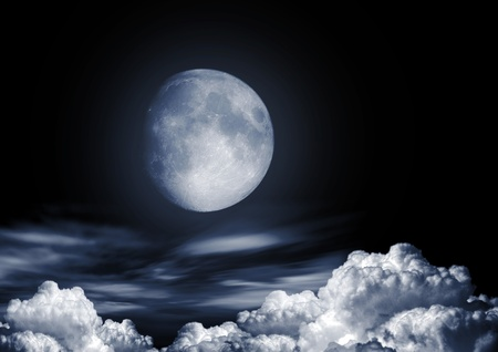 Full moon image with water Stock Photo - 13187928
