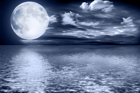 Full moon image with water Stock Photo - 13187930