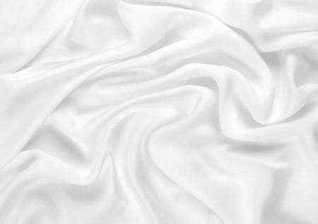 Smooth elegant white silk Фото со стока