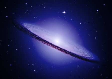 galaxy in a free space Фото со стока