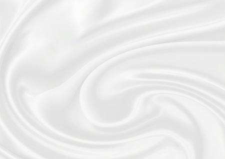 white silk: Smooth elegant white silk can use as fine background Stock Photo