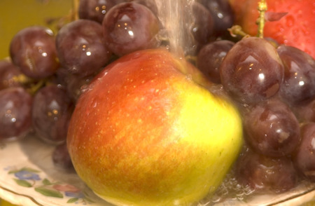 well water: before meal fruit should be washed out well water