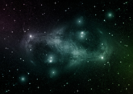 natural phenomenon: Stars, dust and gas nebula in a far galaxy. Elements of this image furnished by NASA