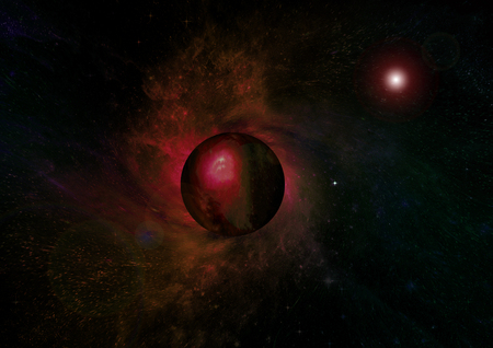 Stars, dust and gas nebula in a far galaxy. Elements of this image furnished by NASA