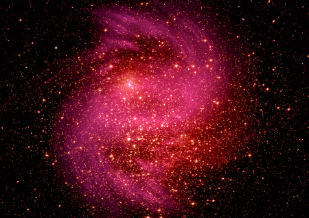Stars, dust and gas nebula in a far galaxy. Elements of this image furnished by NASA Banco de Imagens - 76470524