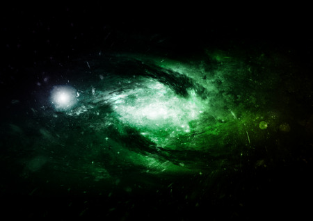 infinity symbol: Stars, dust and gas nebula in a far galaxy. Elements of this image furnished by NASA