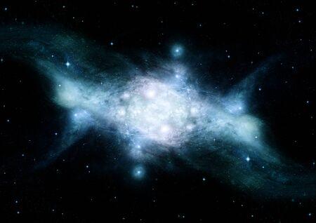 Stars, dust and gas nebula in a far galaxy. Foto de archivo