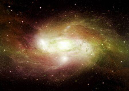 Stars, dust and gas nebula in a far galaxy.