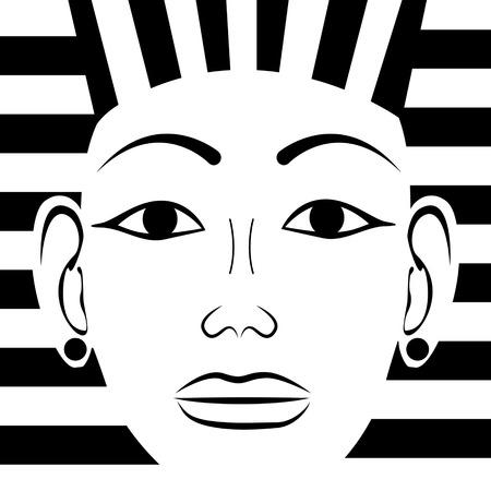 tutankhamen: Pharaoh head