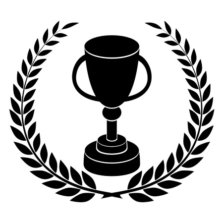 Black silhouette of champions cup, award design Vector