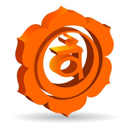swadhisthana: Ilustraci�n 3D de Swadhisthana chakra, vector