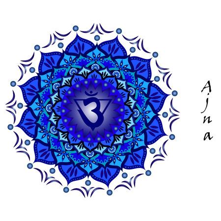 Lotus flower of Ajna chakra Illustration