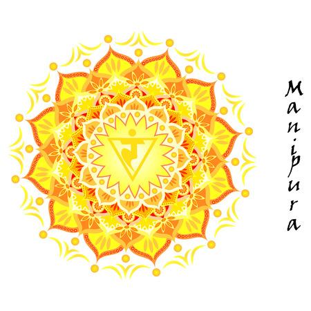 Lotus flower of Manipura chakra