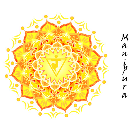 Lotus flower of Manipura chakra Vector