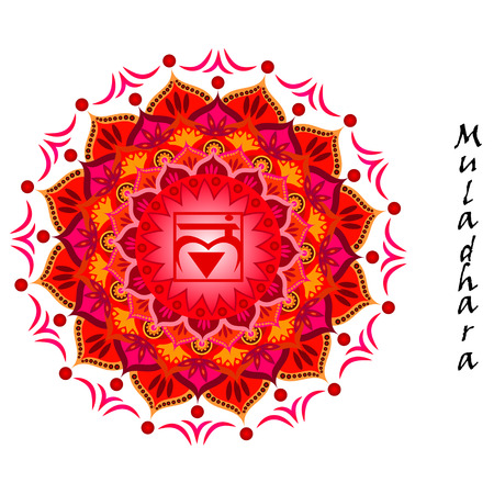 Lotus flower of Muladhara chakra Stok Fotoğraf - 34656134