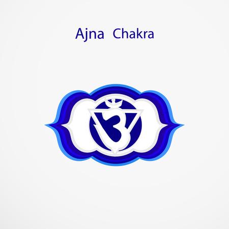 ajna: Symbol of Ajna chakra vector