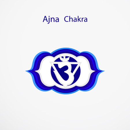 third eye: Symbol of Ajna chakra vector