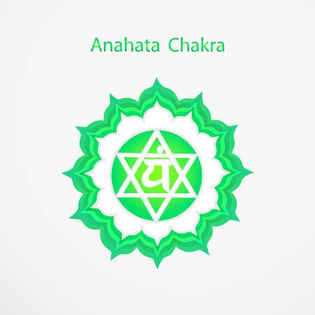 Symbol of Anahata chakra vector Vettoriali