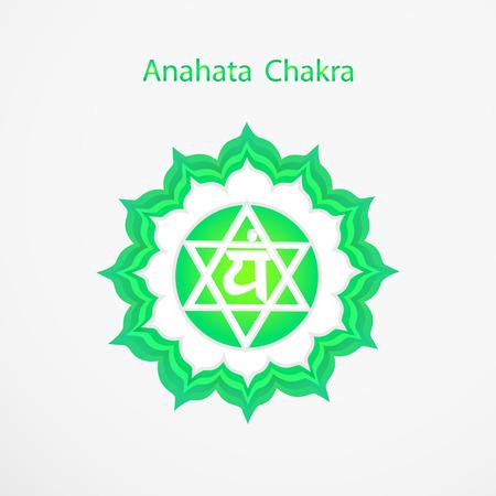 Symbool van Anahata chakra vector