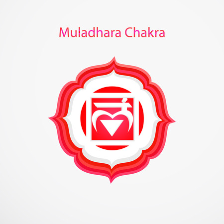 muladhara: Symbol of Muladhara chakra vector Illustration